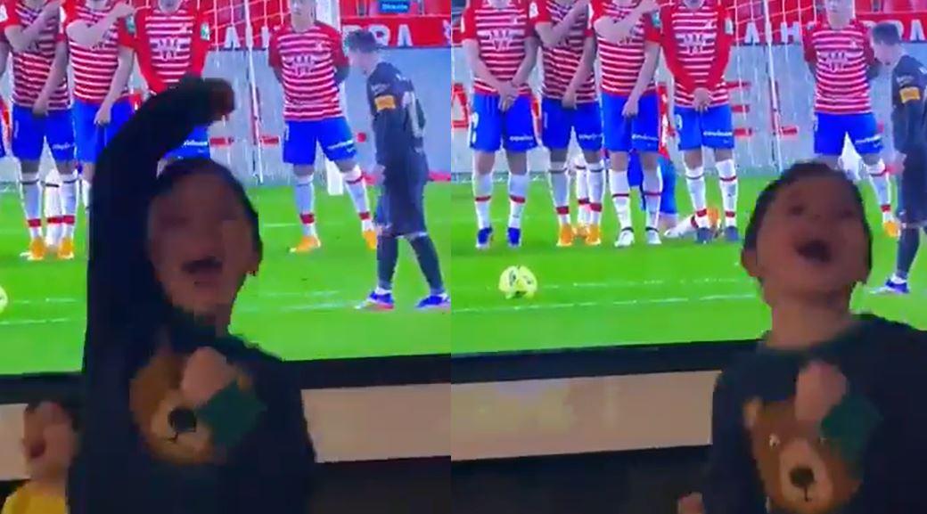 Gëzimi epik i fëmijëve të Messit, kur ai shënoi gol sonte