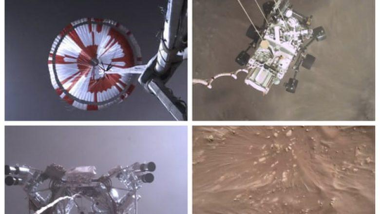 NASA publikon pamjet e uljes së anijes kozmike në Mars